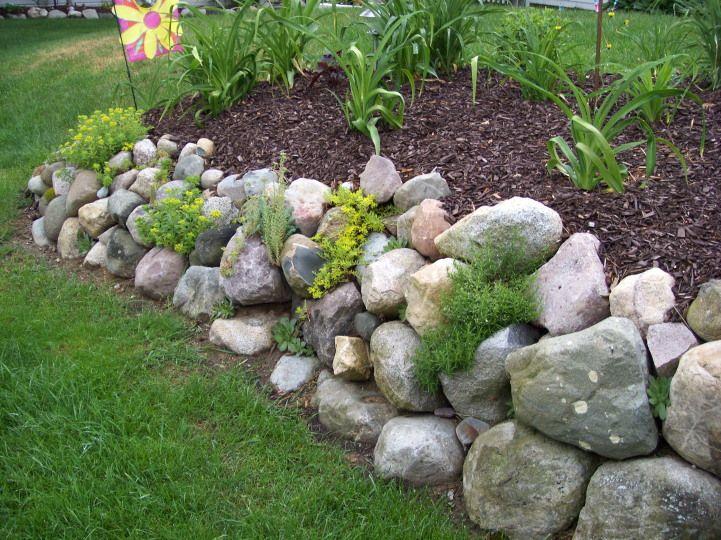 rock wall garden